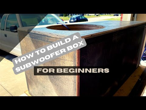 How to build a subwoofer box (for beginners) [4K]