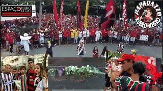 Todas as imagens da homenagem aos Garotos do Ninho no entorno do Clube de Regatas do Flamengo!