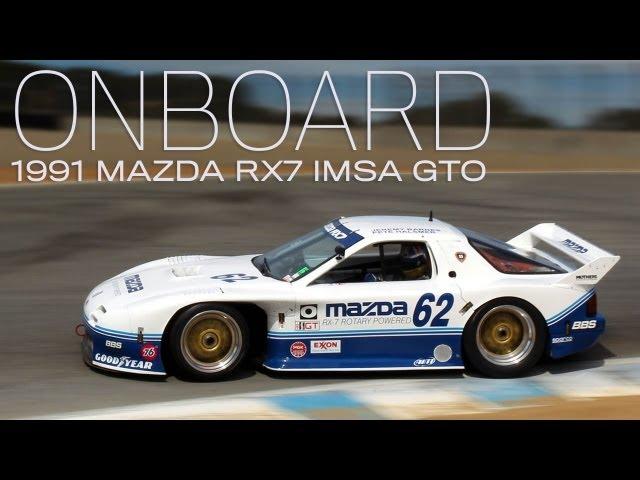 Onboard 1991 Mazda RX7 IMSA GTO four-rotor at Rolex ...