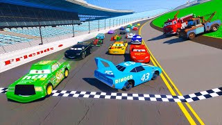 Race Cars 2 Daytona McQueen Chick Hicks The King DINOCO and All Cars Friends Videos & Songs