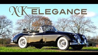 JAGUAR XK150 DHC 1959 - Test drive in top gear - Engine sound | SCC TV