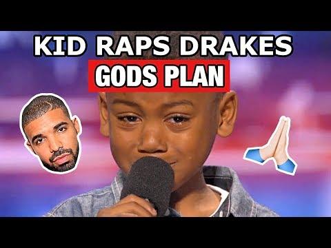 """KID RAPS DRAKE """"GODS PLAN"""" ON AMERICAS GOT TALENT!!"""