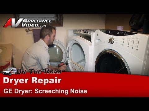 Dryer Repair Screeching noise - diagnostic & repair - GE,Hotpoint, RCA  DCVH515EF0WW