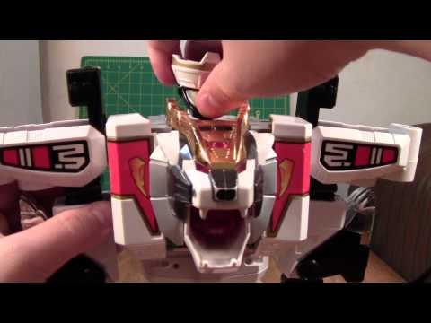 Mighty Morphin Power Rangers White Tigerzord / Mega Tigerzord Review (Megazord Toy)