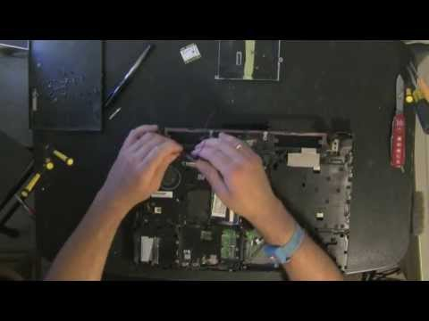 HP ProBook 4510S laptop take apart. disassemble. how to open. video