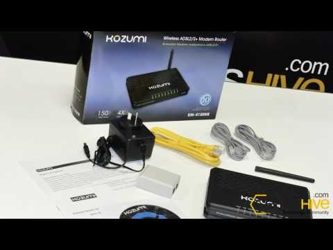 Modem Router Wireless ADSL2/2+ Kozumi - review by www.geekshive.com (Español)