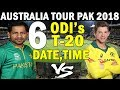 Australia VS Pakistan Complete Schedule | Aus Tour To Pak 2018 | Austrailia Vs Pakistan 2018