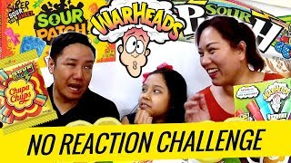 NO REACTION CHALLENGE (Sour Flavor) with Ish and Sky