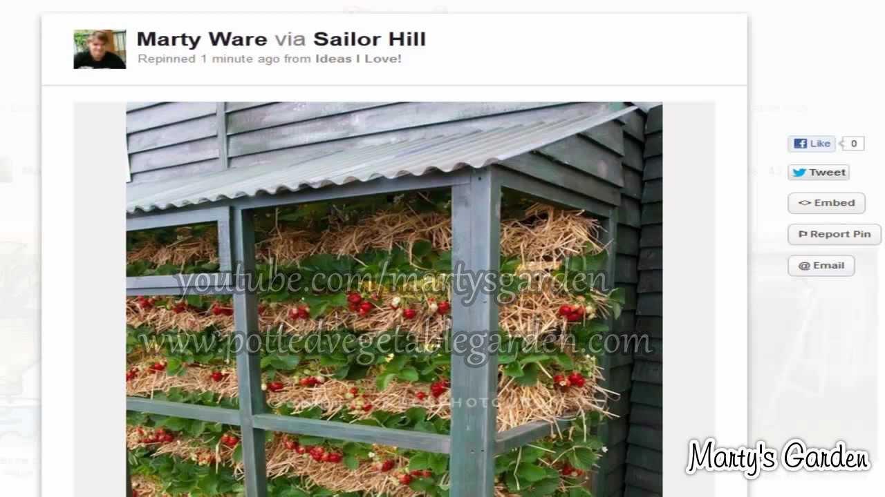 creative garage sale ideas - 3 Original Ideas for Vertical Strawberry Gardening