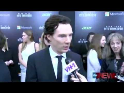 Benedict Cumberbatch talks Sherlock on the Trek red carpet