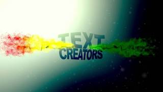 After effects Videohive template #2 particle text creators [1080p]