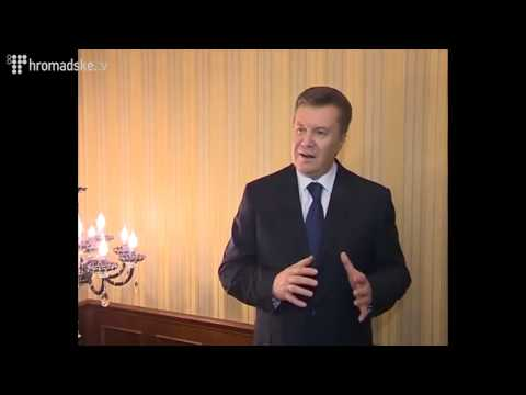 Viktor Yanukovich on situation in Ukraine (English Subtitles)