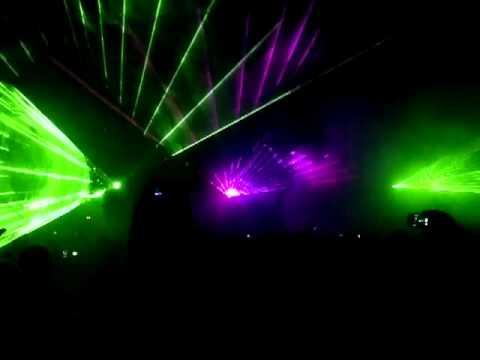 Pokaz laserowy - XXIV Zlot Motocykli