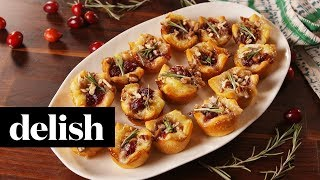 How to Make Cranberry Brie Bites | Recipe | Delish