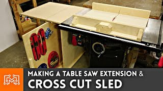 Making a Table Saw Extension and Cross Cut Sled
