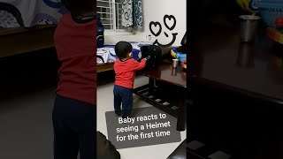 Naughty kid sees the Helmet first time