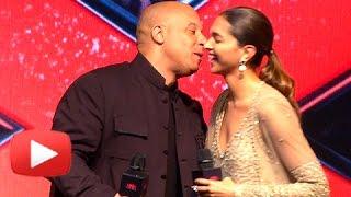 VIN DIESEL KISSES DEEPIKA PADUKONE In Public | xXx Return Of Xander Cage India Premiere
