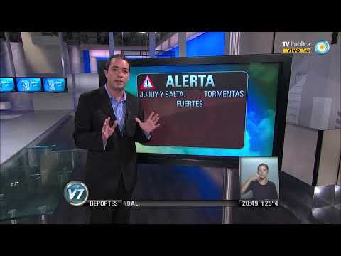 Visión 7: Pronóstico Alertas de tormentas en el norte del país