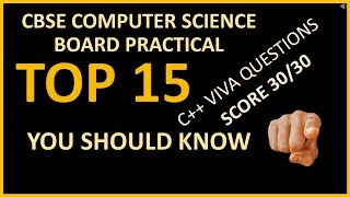 SCORE 30/30  IN C++ VIVA | TOP 15 VIVA QUESTIONS | Computer Science Class 12 | C++ | Chandni Agarwal