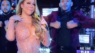 Mariah Carey goes nuts on New Years Eve Live