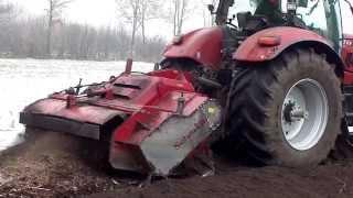 Case IH Puma CVX 225 Traktor Power Sound vs 5,5 TONNEN Fräse und Schlamm am Limit festgefahren