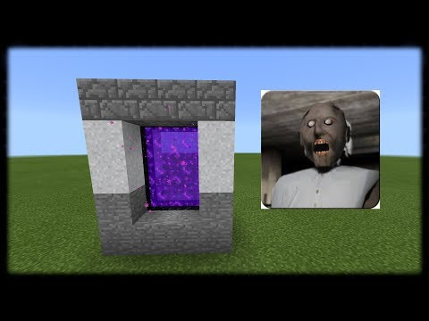 How to make Portal to Granny House Dimension in Minecraft PE