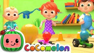 Toy Balloon Car Race | Nursery Rhymes & Kids Songs - ABCkidTV