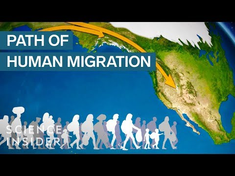 Animated map shows how humans migrated across the globe
