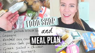 HUGE FAMILY FOOD SHOP AND MEAL PLAN | STOCKING UP FOR THE SUMMER HOLIDAYS