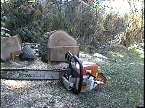 Stihl MS390  Chainsaw START & TEST CUT