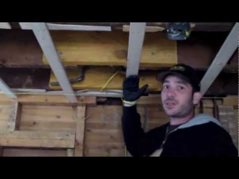 How to level a ceiling in an old home remodeling youtube for How to level a house