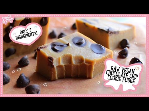 Raw Vegan Chocolate Chip Cookie Fudge with Only 5 Ingredients! Collab with MindOverMunch!