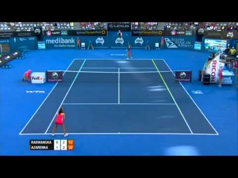 A. Radwanska v V. Azarenka Highlights Women's Singles Semi Final: Sydney International 2012