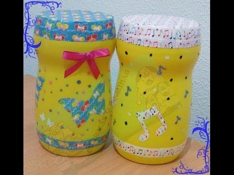 Como decorar bote con washi tape diy youtube - Como decorar con washi tape ...
