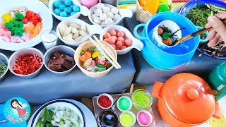 LEARN HOW TO COOK with Play Doh Toy Cutting Fruits and Vegetables Food Shop Cooking Play Toys