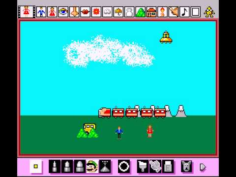 Mario Paint (Joystick) - Making a thing - User video