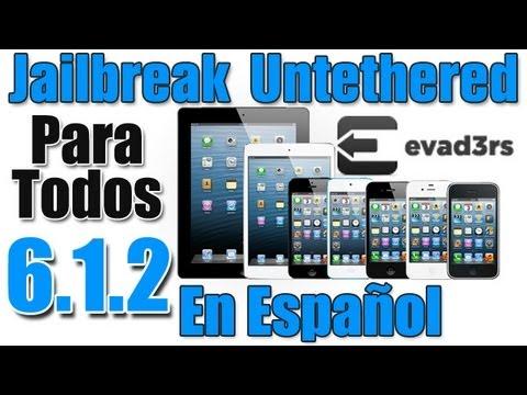 Jailbreak Untethered iOS 6.1.2 Evasi0n En Español