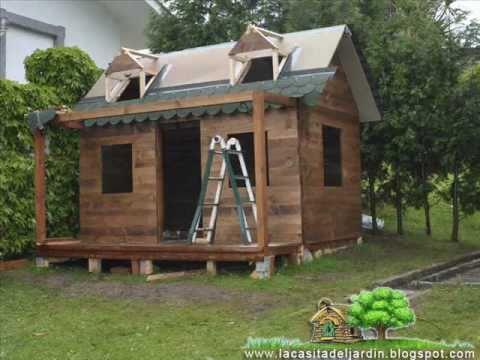 La casita del jardin construccion paso a paso dia for Casetas de madera para jardin baratas