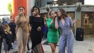 Fifth Harmony Performing Don T Say You Love Me On Hollywood Boulevard
