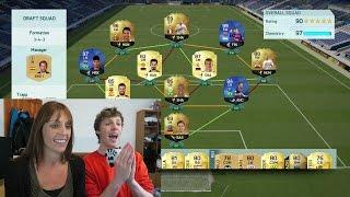 MY MUM BUILDS AN INSANE FUTDRAFT - FIFA 16