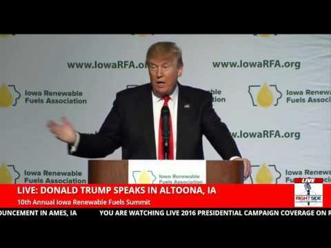 Donald Trump in Altoona, IA at the Iowa Renewable Fuels Summit (1 19 16)