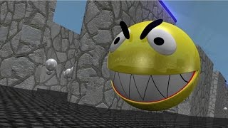 Short video with pac man 3D