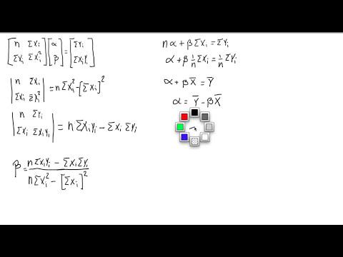 Regresión Lineal Bivariada - Cuadrados Minimos - Demostración