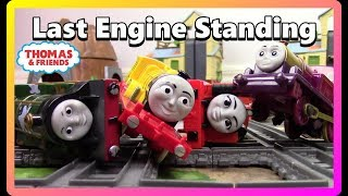 DEMOLITION DERBY|THOMAS AND FRIENDS TRACKMASTER Toy Trains for Kids| Last Engine Standing #24