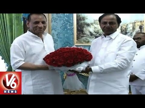 CM KCR Meets Governor Narasimhan | Panchayat Election Reservations | V6 News