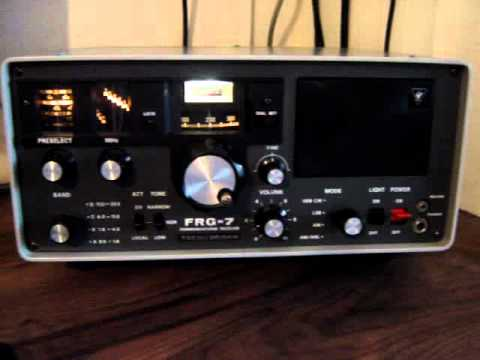 Yaesu FRG-7 on 40m listening to M0SKA