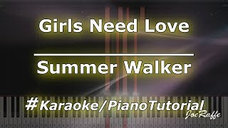 Summer Walker - Girls Need Love (Karaoke/PianoTutorial/Instrumental)