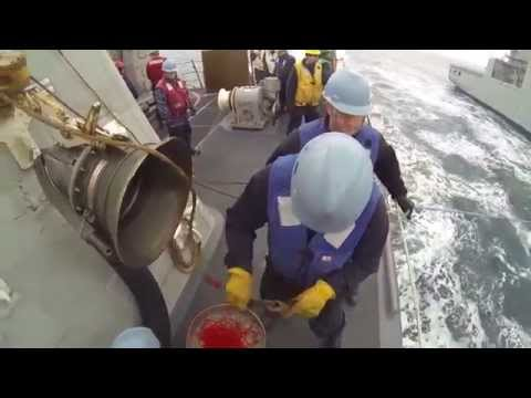 USS Fort Worth (LCS 3) Conducts Replenishment at Sea