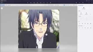 Anime boy eats Burger
