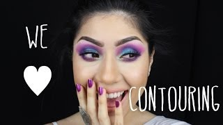 Contorno sin brochas / Contouring without brushes by Analia Brizueña